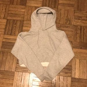 Urban Outfitters Cropped Fleece Hoodie